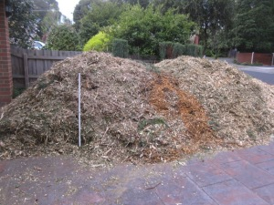mountain of mulch