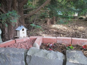 a bird house adds to the look