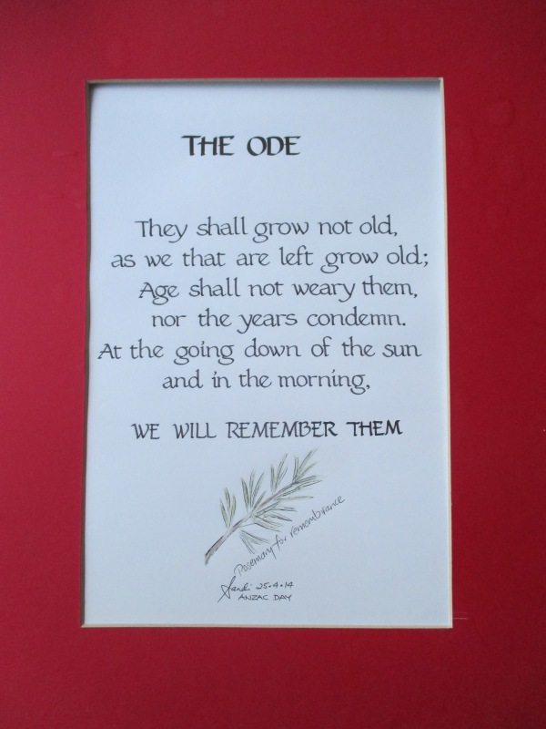 Anzac Day Calligraphy
